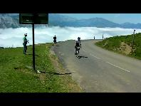 Author D J Murphy Nears the Finish Line atop the Col d'Aubisque July 11 2011