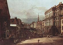 Canaletto Painting of Location where Mozart's Piano Concert No. 20 was first performed