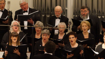 Charles Bihler and Fellow Members of the Chatham Chorale April 2015