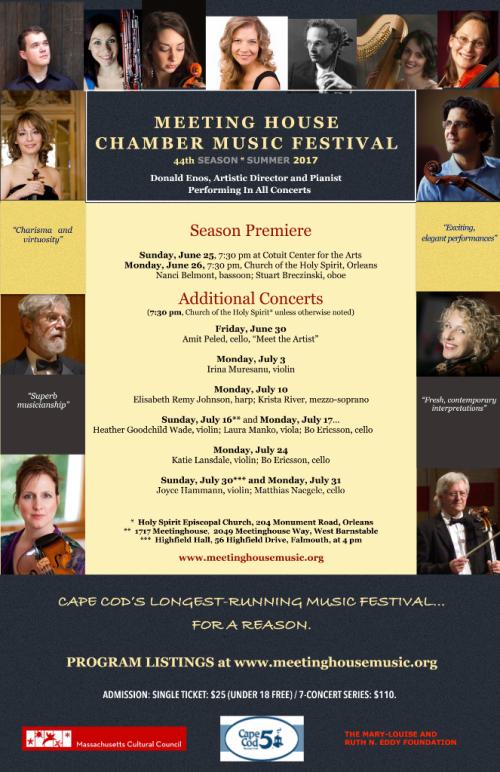 Large Poster Meeting House Chamber Music Festival 2017 rev. 5 15 17 Season lower res