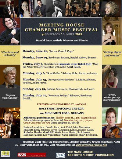 Meeting House Chamber Music Festival 2015 Season