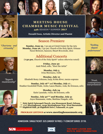 Poster Meeting House Chamber Music Festival 2017 Season rev. 5 15 17