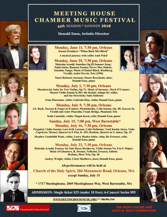 Meeting House Chamber Music Festival 2018 Season 5 30 18