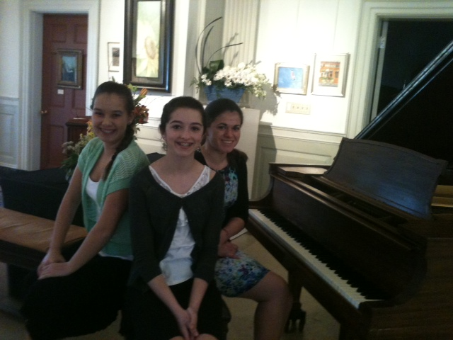 Young Students of Anne Franciose Perrault Performing at the Cultural Center in South Yarmouth MA